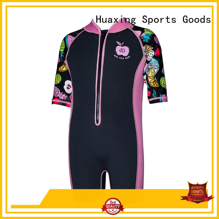 Huaxing fashion design toddler wetsuit for diving