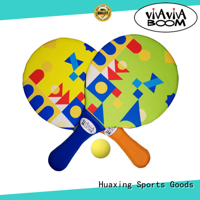 Huaxing colorful beach tennis set for beach game