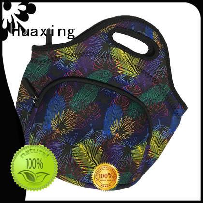 Huaxing fashion design black neoprene bag manufacturer for women