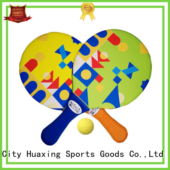 Huaxing cloth beach tennis game from china for beach game
