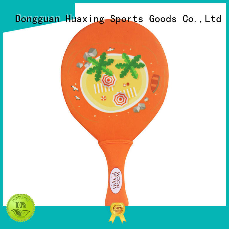 Huaxing colorful beach paddle ball manufacturer for children