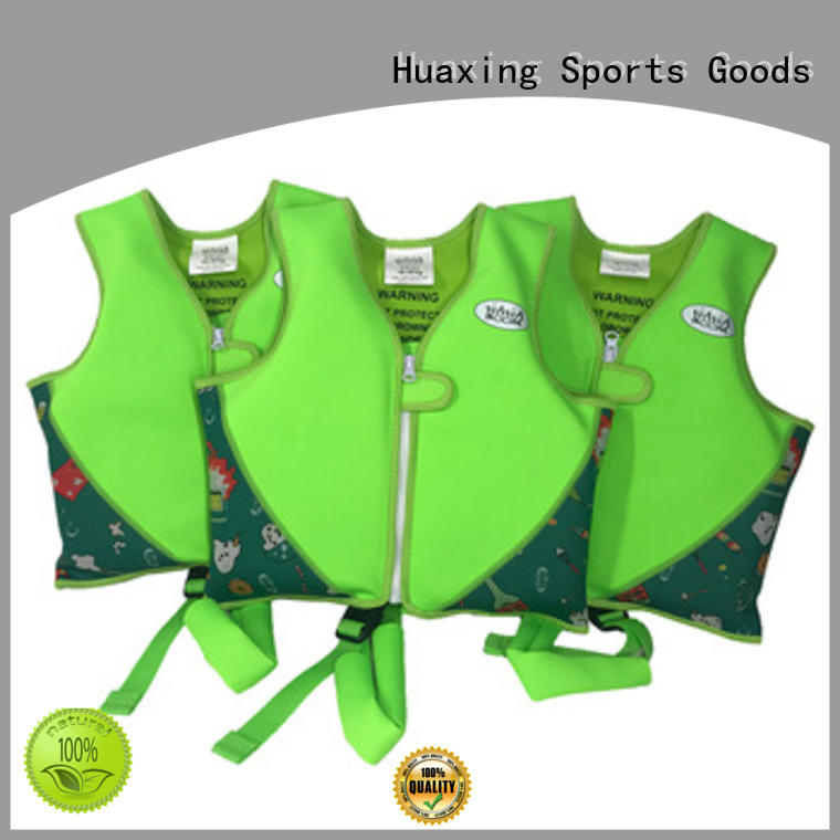 Huaxing colorful kids swimming life vest producer for swimming
