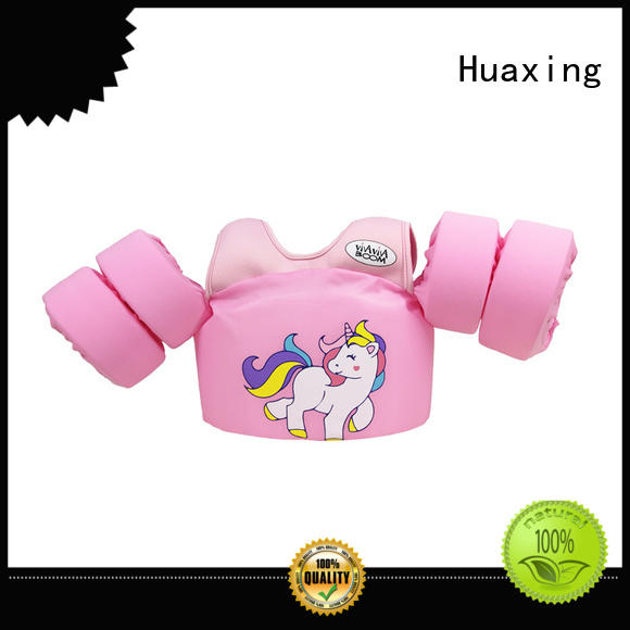 Huaxing quick dry kids swimming life jacket bulk production for swimming