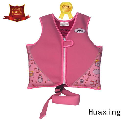 Huaxing perfect life jacket swimsuit logo for swimming