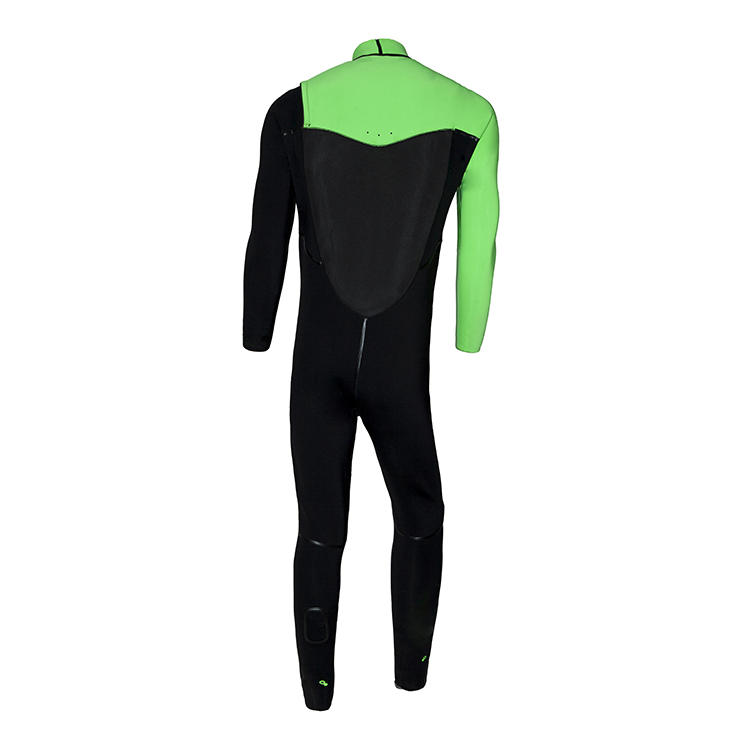 Best quality super stretch neoprene men's full Body surf diving wetsuit with chestzip