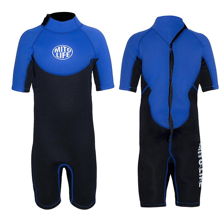 2mm Custom logo printed wetsuit kids swimwear surfing and diving wetsuit