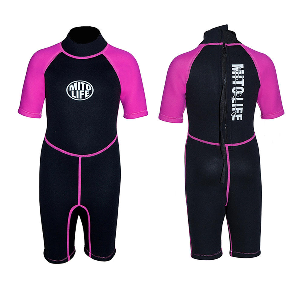 Designed for girls 3mm custom logo printed wetsuit swimming suit kids surfing wetsuit