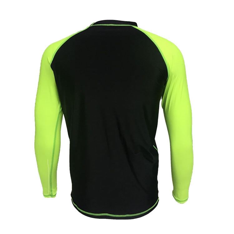 Dongguan manufacture custom surf rash guard personalized spandex and nylon fabric rash guard