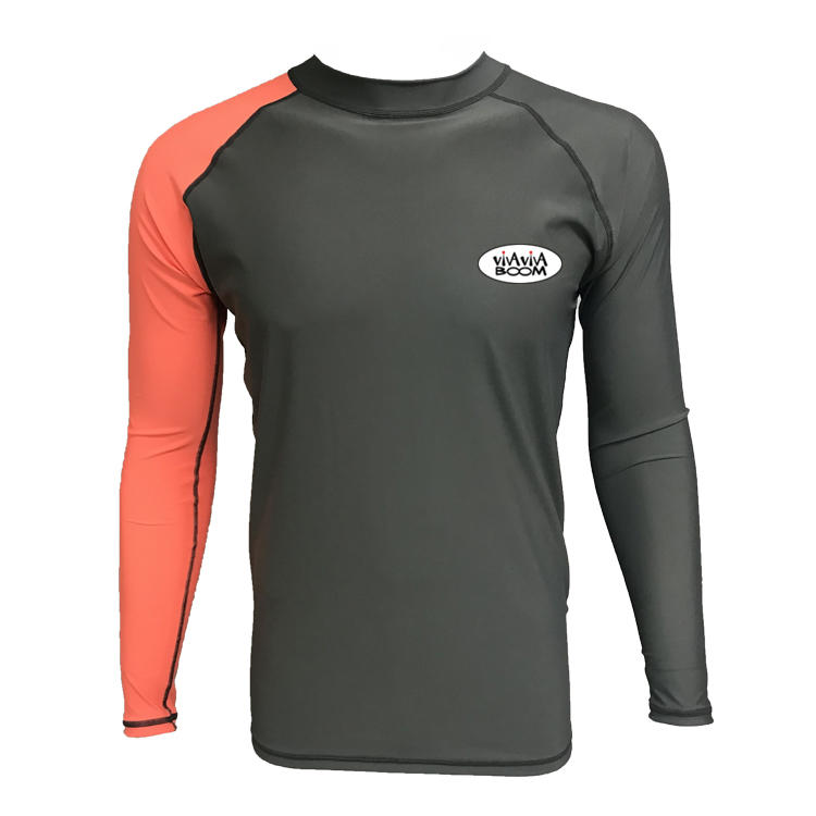 15 Years experience dongguan manufacture rash guard custom logo with long sleeve