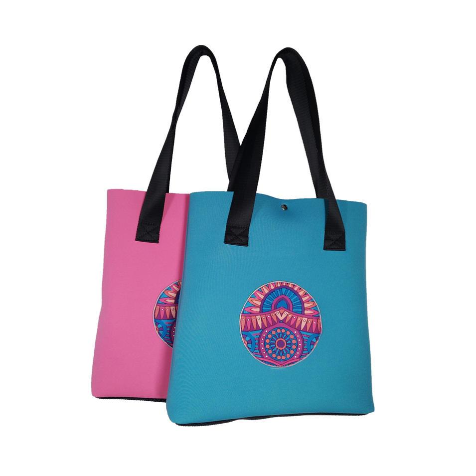 Wholesale new style neoprene tote bags creative print women handbag