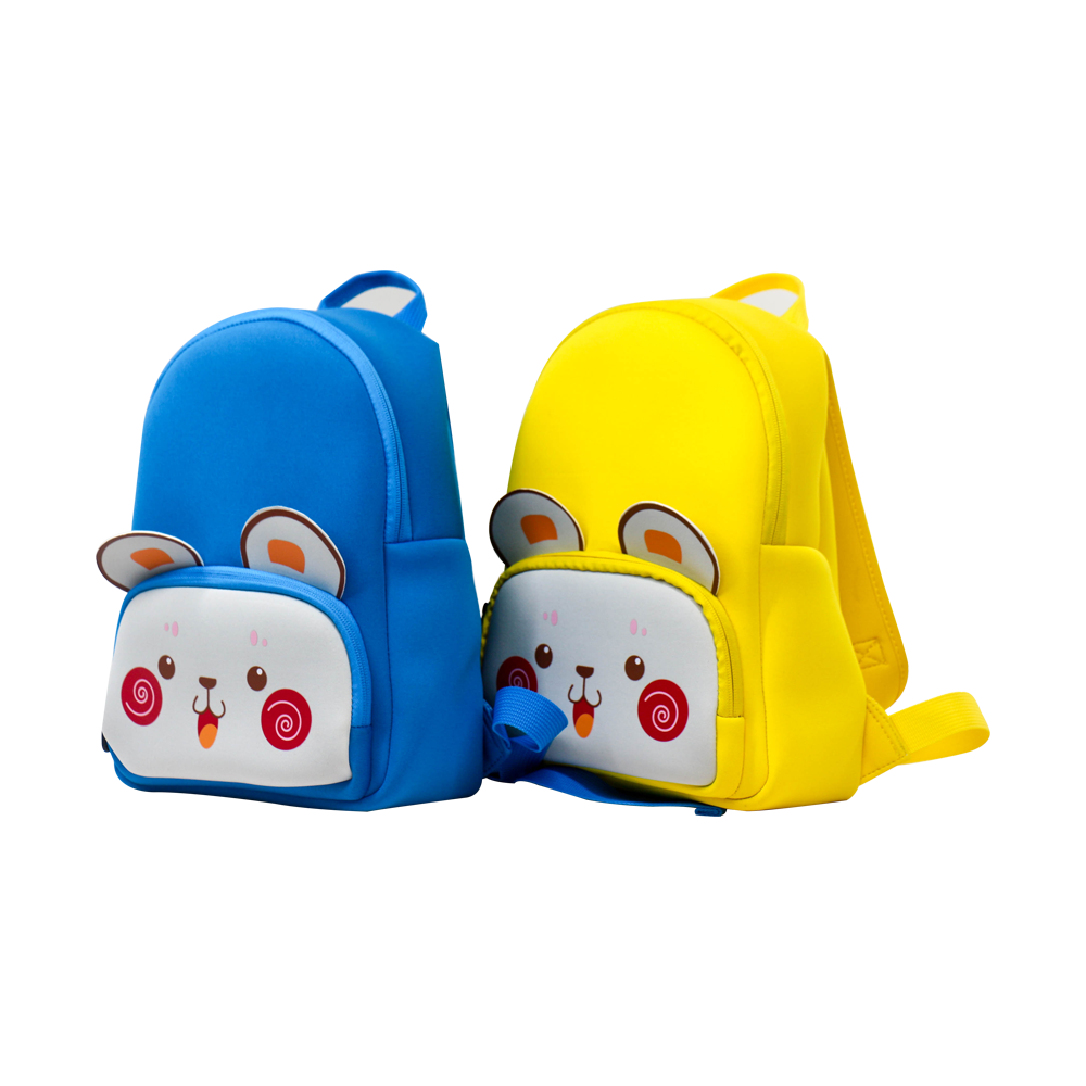Cute 2.5mm custom made neoprene bag suppliers kids backpack