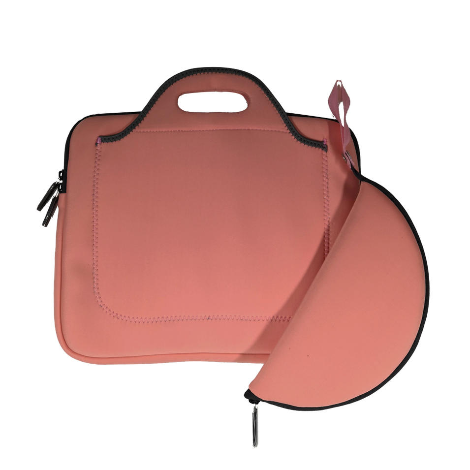 Guangdong factory supply directly laptop briefcase for women ladies neoprene notebook bag with mouse mat