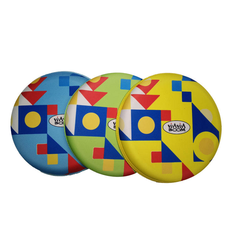 Newly designed custom Kids Safety Flying Disc Toy Neoprene Nylon Fabric Mini Flying Disc