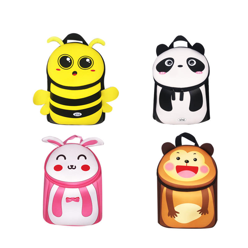 Neoprene Bag/Neoprene Backpack NB005 With Cute 3D Animals - Huaxing Neoprene Manufacturers In China