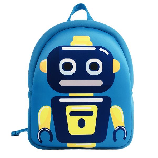 Wholesale Boy Cute 3D Cartoon Robot Kids Travel Backpack