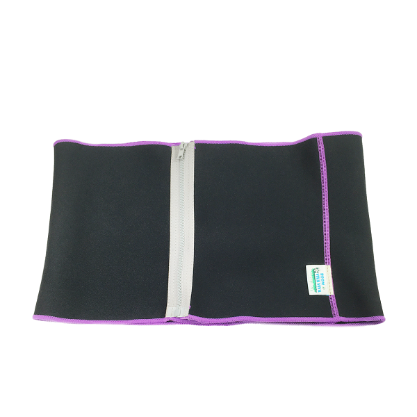 Slimming Belt With Zippers Soft Neoprene Interior Construction And Adjustable Zipper Closure To Fit Most Waist Sizes