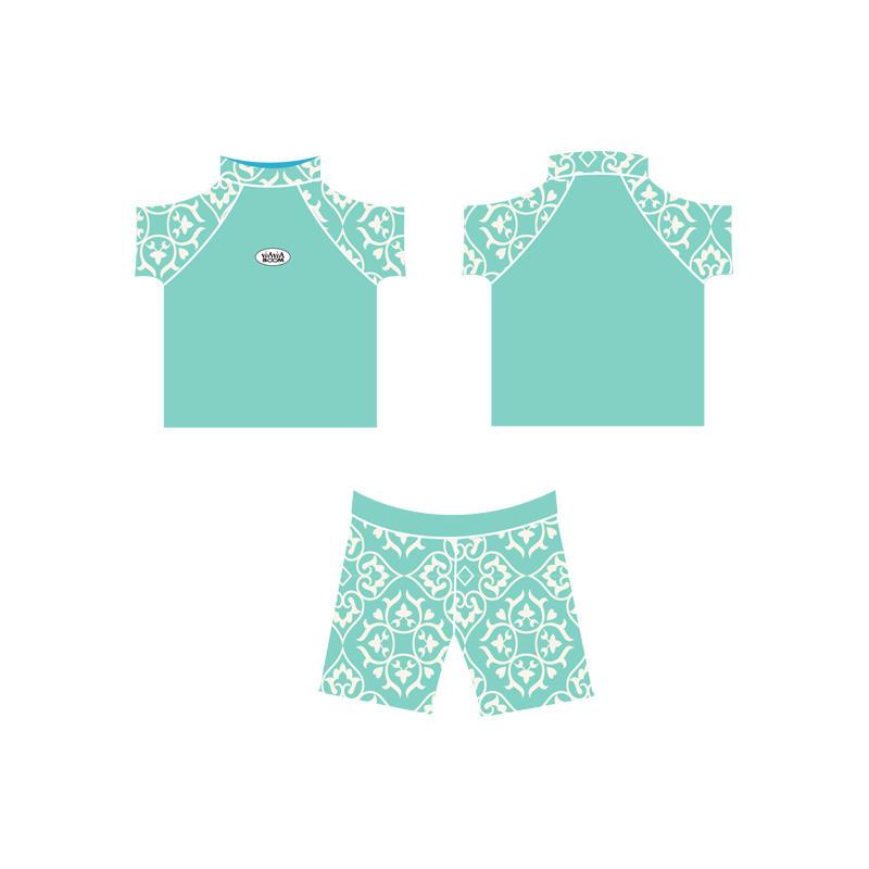 2021 New Spring Lovely Kids Baby Rash Guard manufacturer Custom logo UPF50+ Rashguard