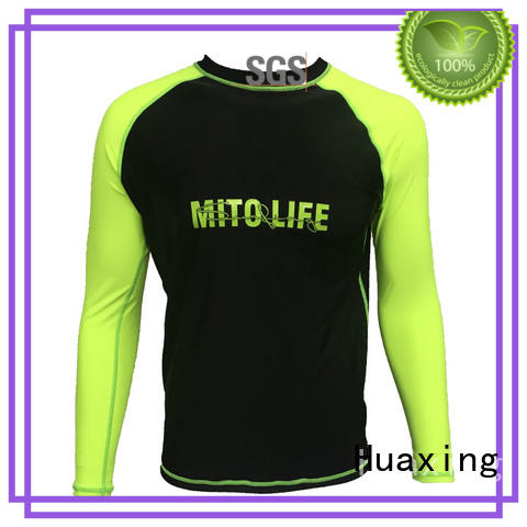 Huaxing printing ladies rash guard for bodyboarding