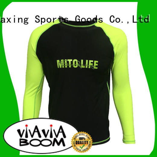 Huaxing high quality men rash guard for kitesurfing