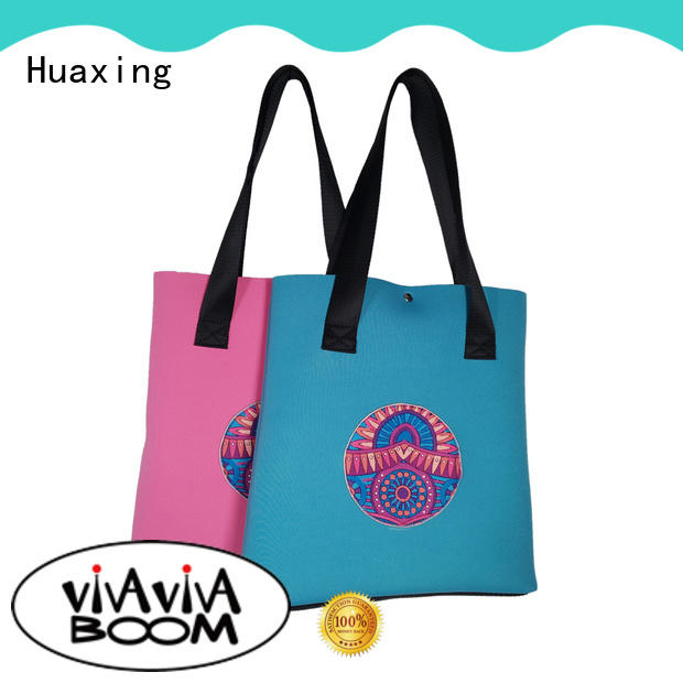 Wholesale new style neoprene beach tote bag creative print women handbag