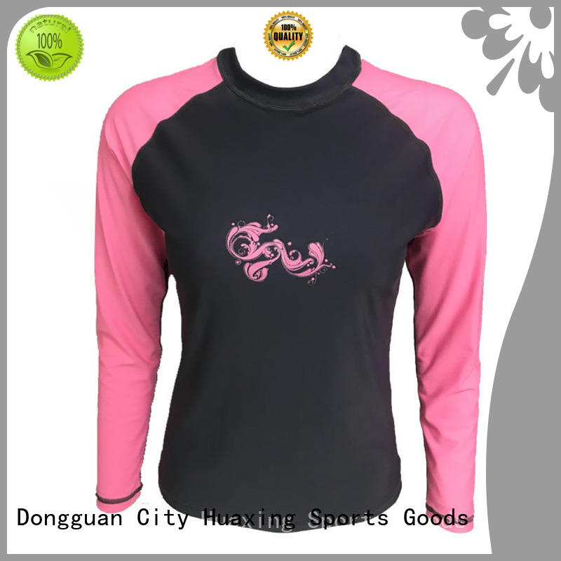 Huaxing baby mens rash guard long sleeve from manufacturer for surfing
