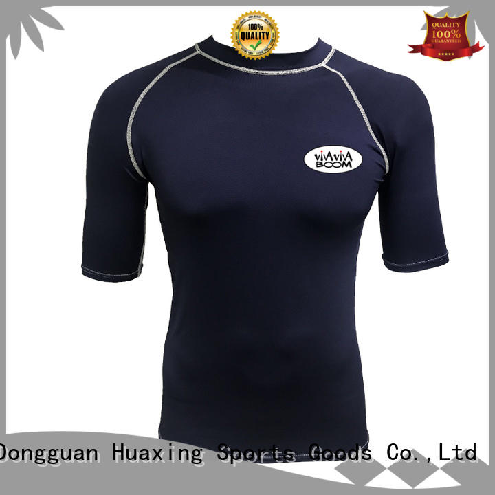 Huaxing style womens rash guard swimsuit producer for surfing