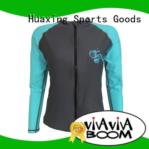 Huaxing good-looking boys rash guard wholesale for bodyboarding