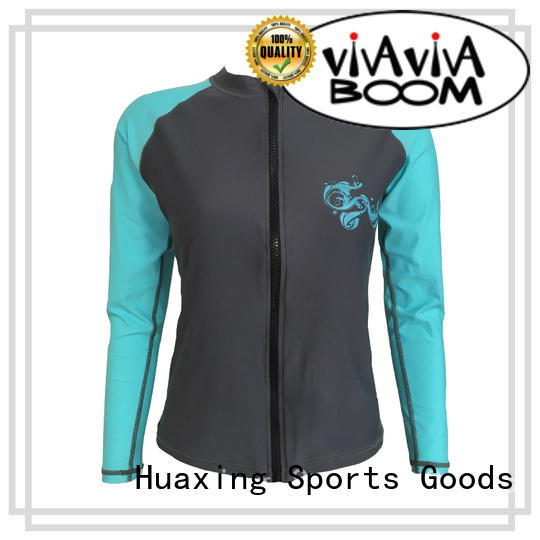 Huaxing comfortable rash guard for girls wholesale for canoe polo