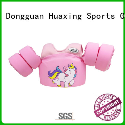 logo toddler life jacket swimsuit producer for swimming Huaxing