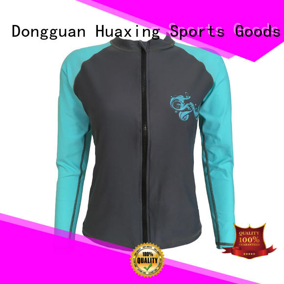 Huaxing high quality mens rash guard long sleeve producer for water survival training