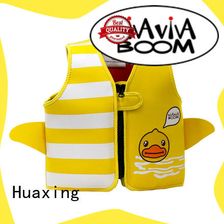 Huaxing colorful baby swimming life vest producer for swimming