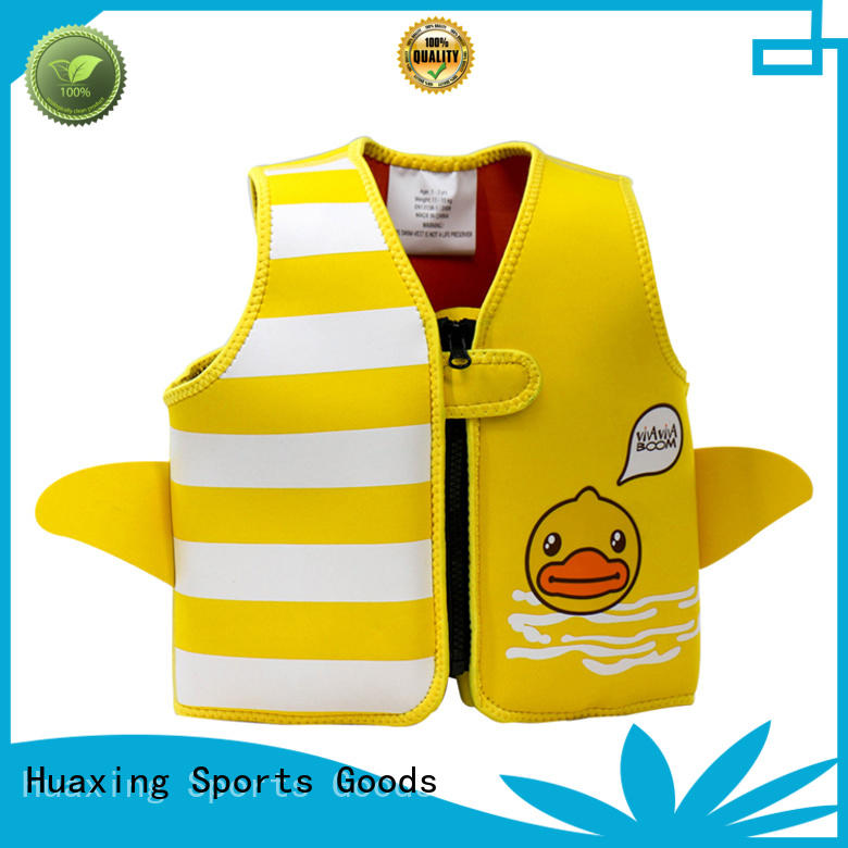 colorful swimming life jacket bulk production for swimming Huaxing