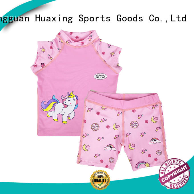Huaxing years women rash guard from china for swimming