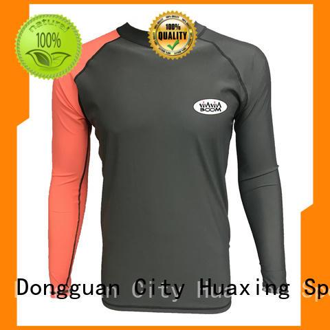 Huaxing logo long sleeve rash guard wholesale for windsurfing