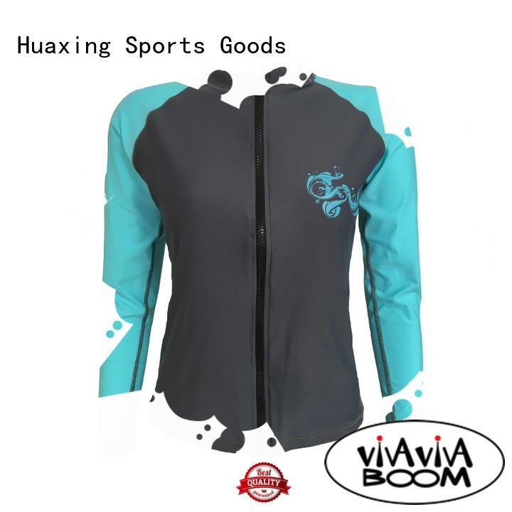 Huaxing good-looking best rash guard womens design for snorkeling