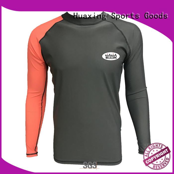 Huaxing fashion design rash guard long sleeve dropshipping for scuba diving