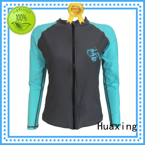 Huaxing fit long sleeve rash guard from manufacturer for stand up paddle surfing