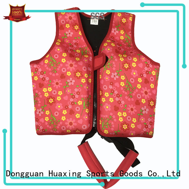 Huaxing breathable boys swim vest from manufacturer for swimming