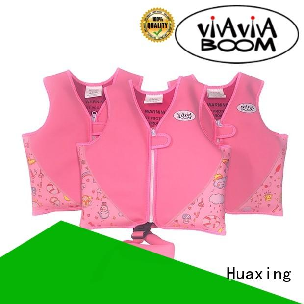 Huaxing breathable childrens swim vest producer for swimming