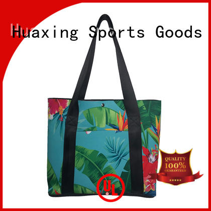 2019 new style colorful print neoprene beach bag wholesale women tote handbag