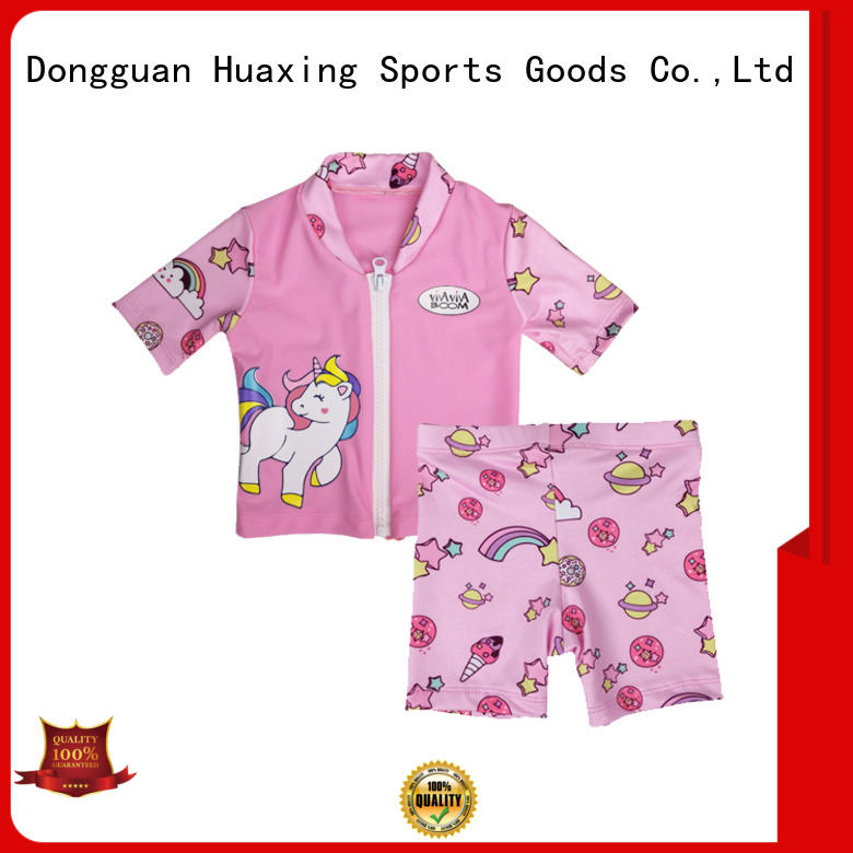 Huaxing high quality rash guard swimsuit from manufacturer for swimming