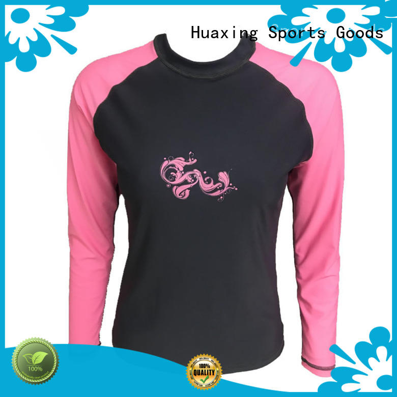 fit long sleeve rash guard womens surf in china for canoe polo