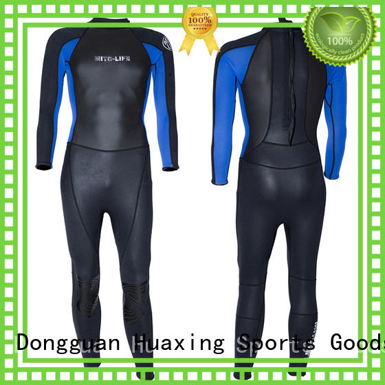 black wetsuit spearfishing for diving Huaxing