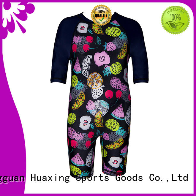 Huaxing comfortable rash guard long sleeve from manufacturer for swimming