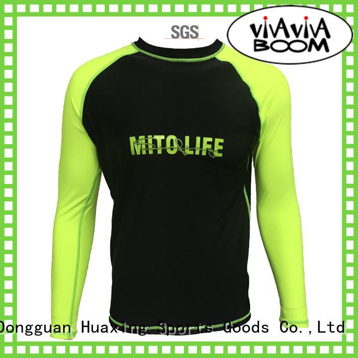 Huaxing comfortable long sleeve rash guard from china for kitesurfing
