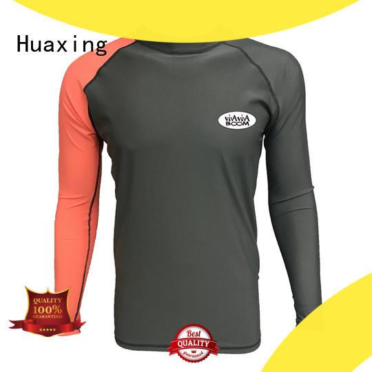 Huaxing good-looking men rash guard from manufacturer for bodysurfing